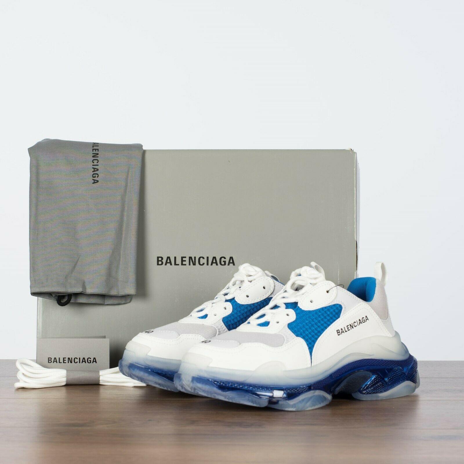 Balenciaga Triple S White Blue