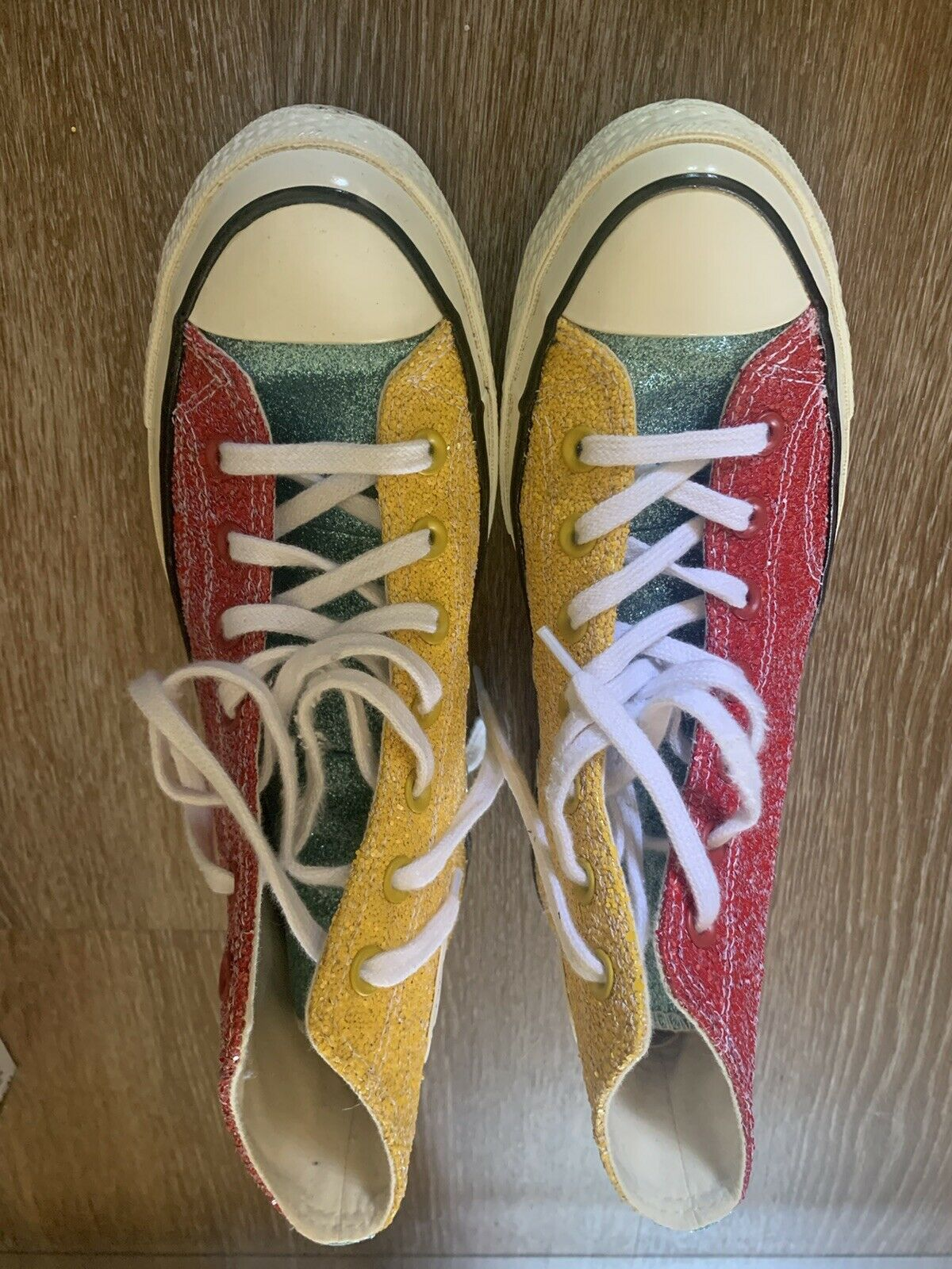 Converse Chuck Taylor All Star 70s Hi JW Anderson Glitter Yellow Red