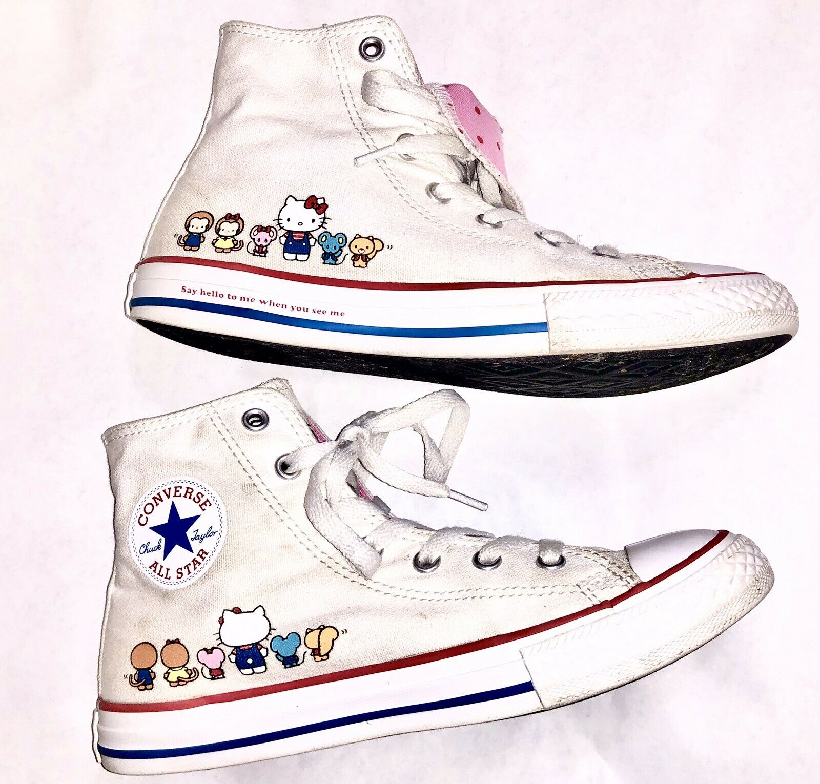 Converse Chuck Taylor All Star Hi Hello Kitty White