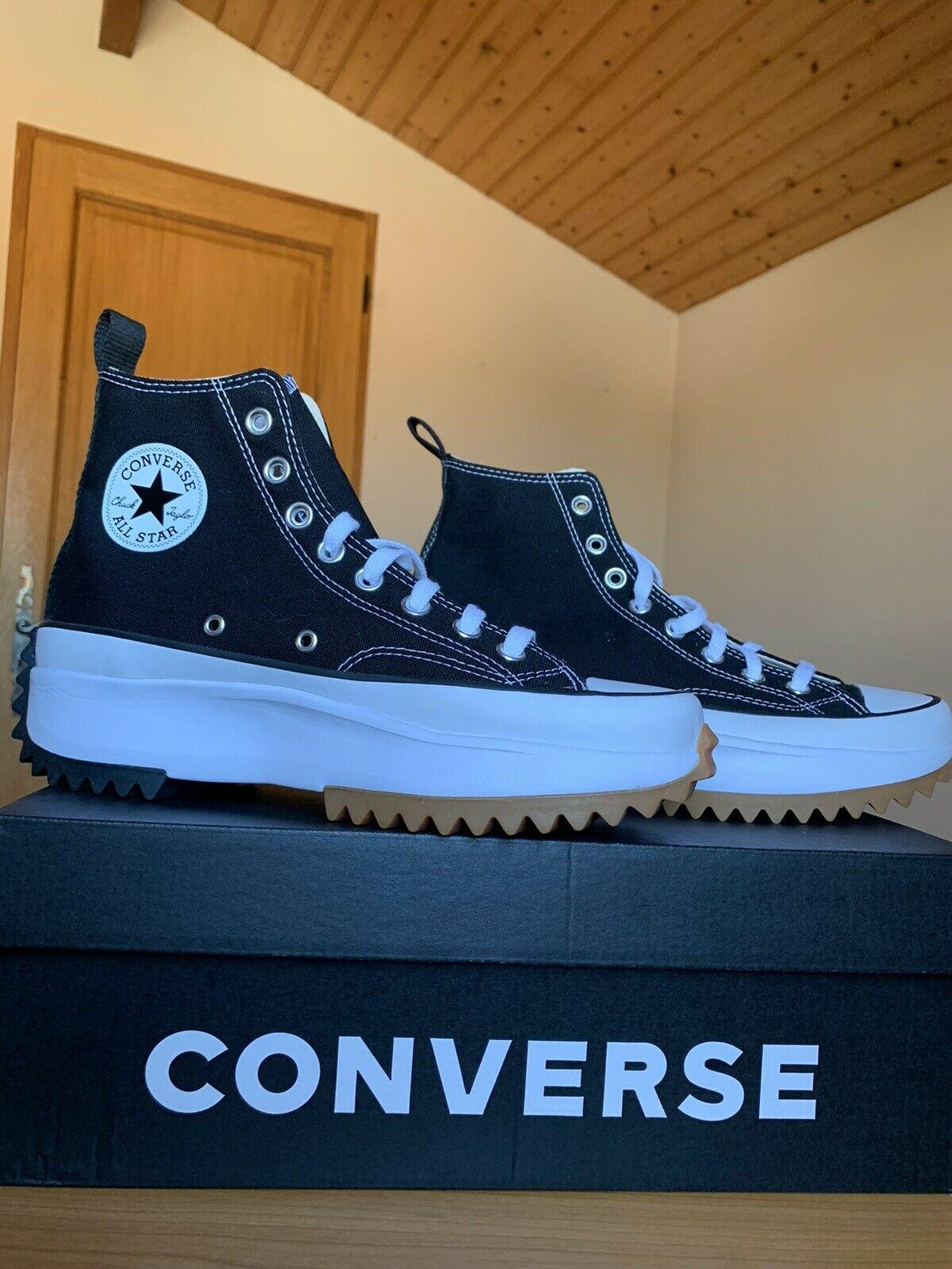 Converse Run Star Hike Hi Black White Gum