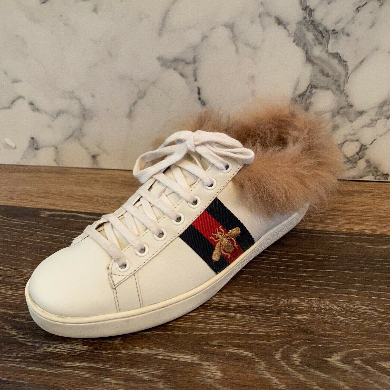 Gucci Ace Fur