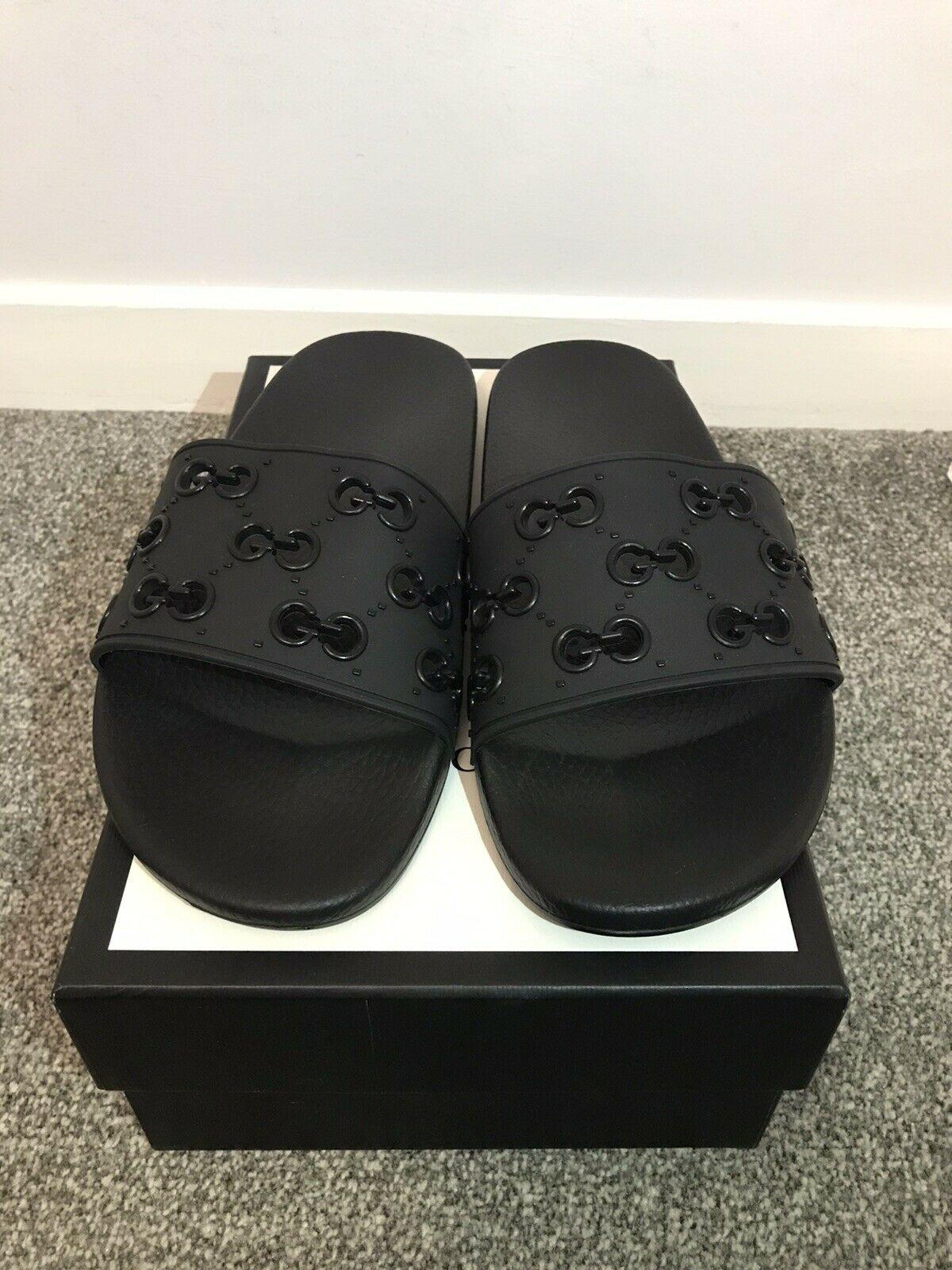 Gucci GG Slide Rubber Black