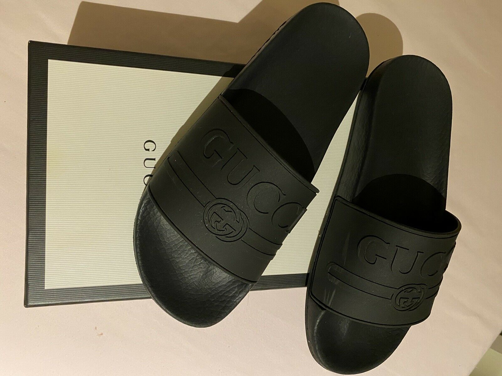 Gucci Logo Slide Rubber Black