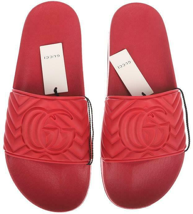 Gucci Matelasse Slide Red
