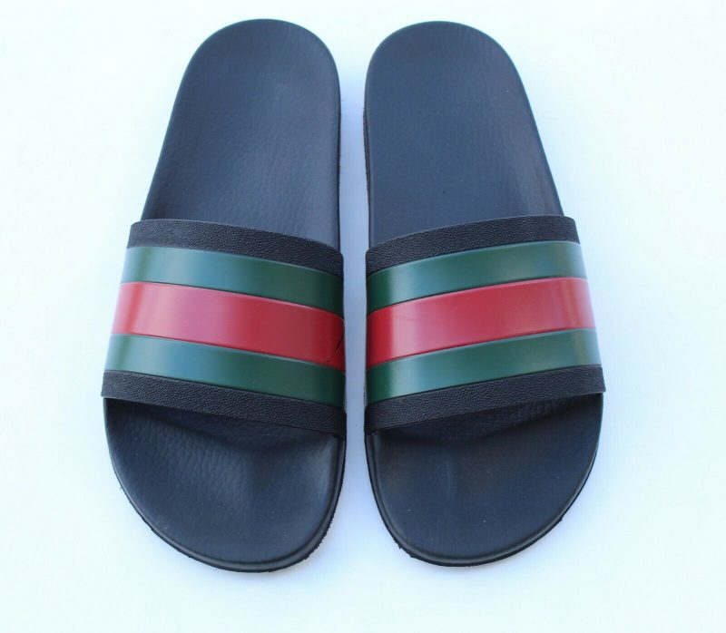Gucci Rubber Slides Red Green