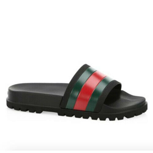 Gucci Web Slide Sandal Black