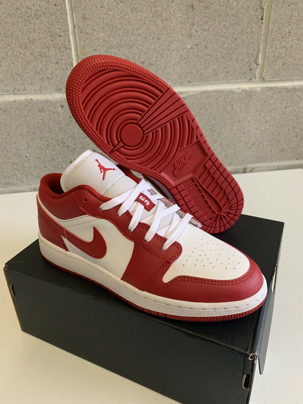 Jordan 1 Low Gym Red White GS