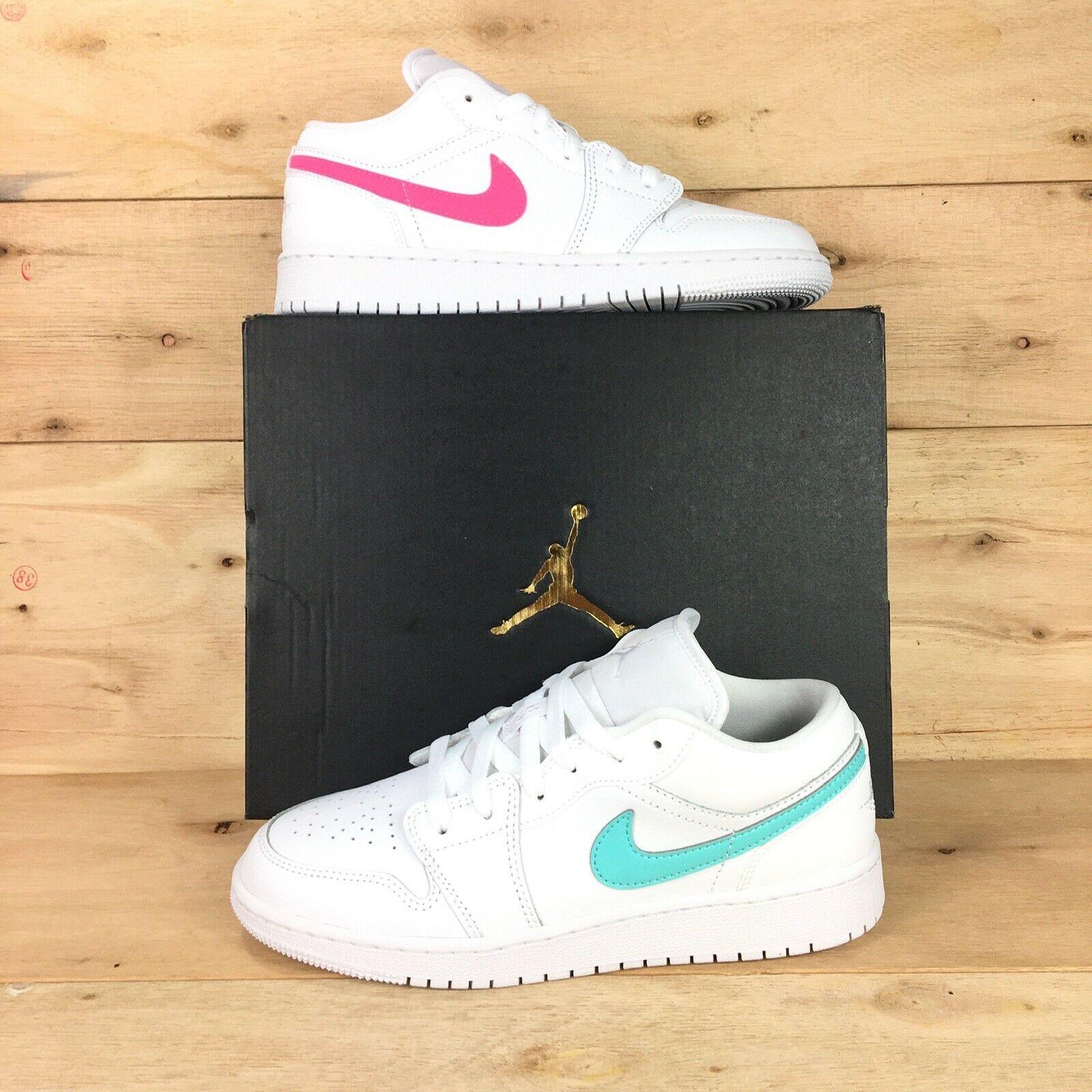 Jordan 1 Low White Neon GS