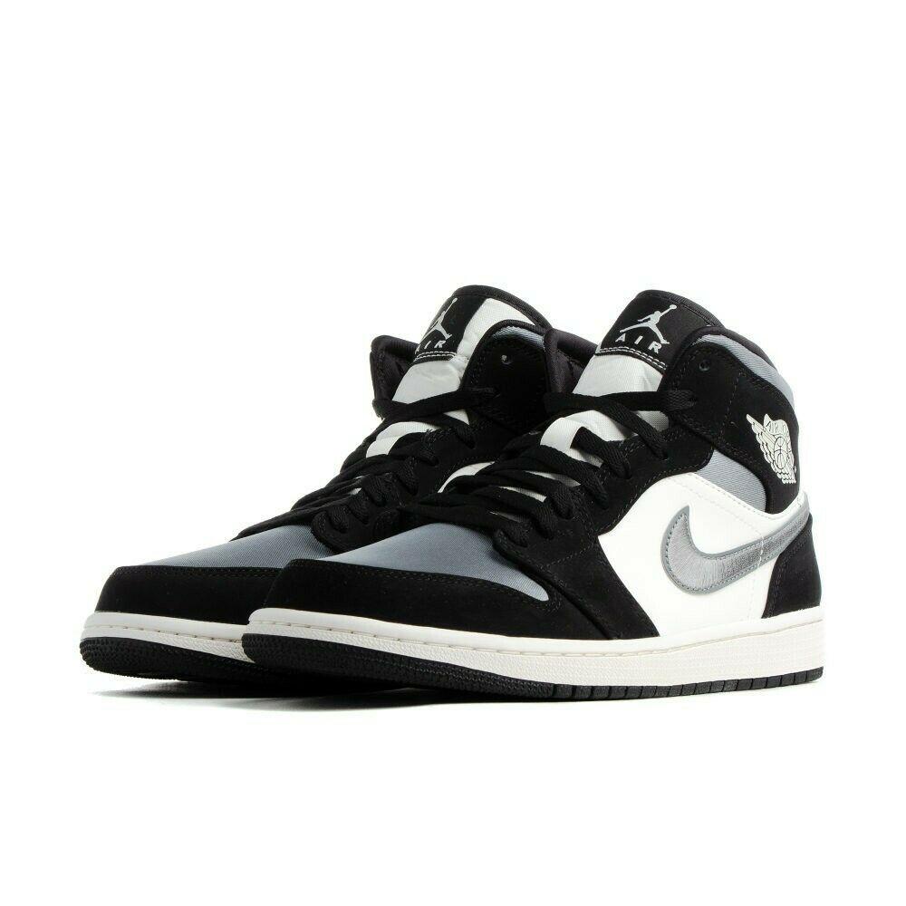 Jordan 1 Mid Reverse Black Toe W