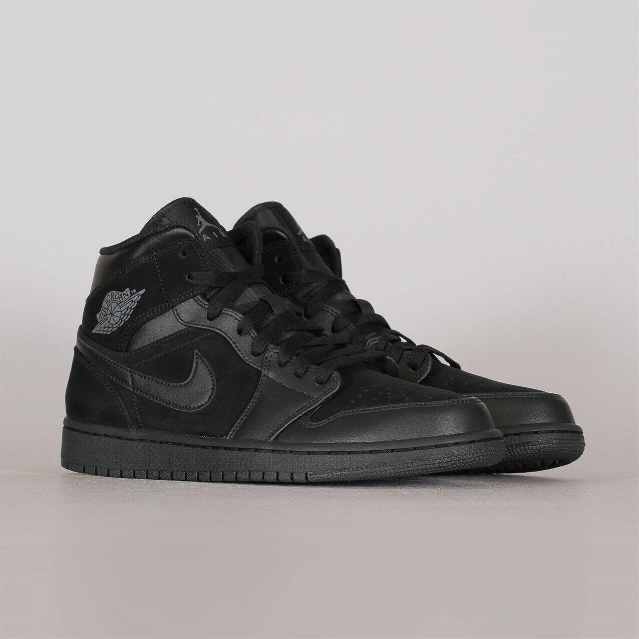 Jordan 1 Mid Triple Black 2018