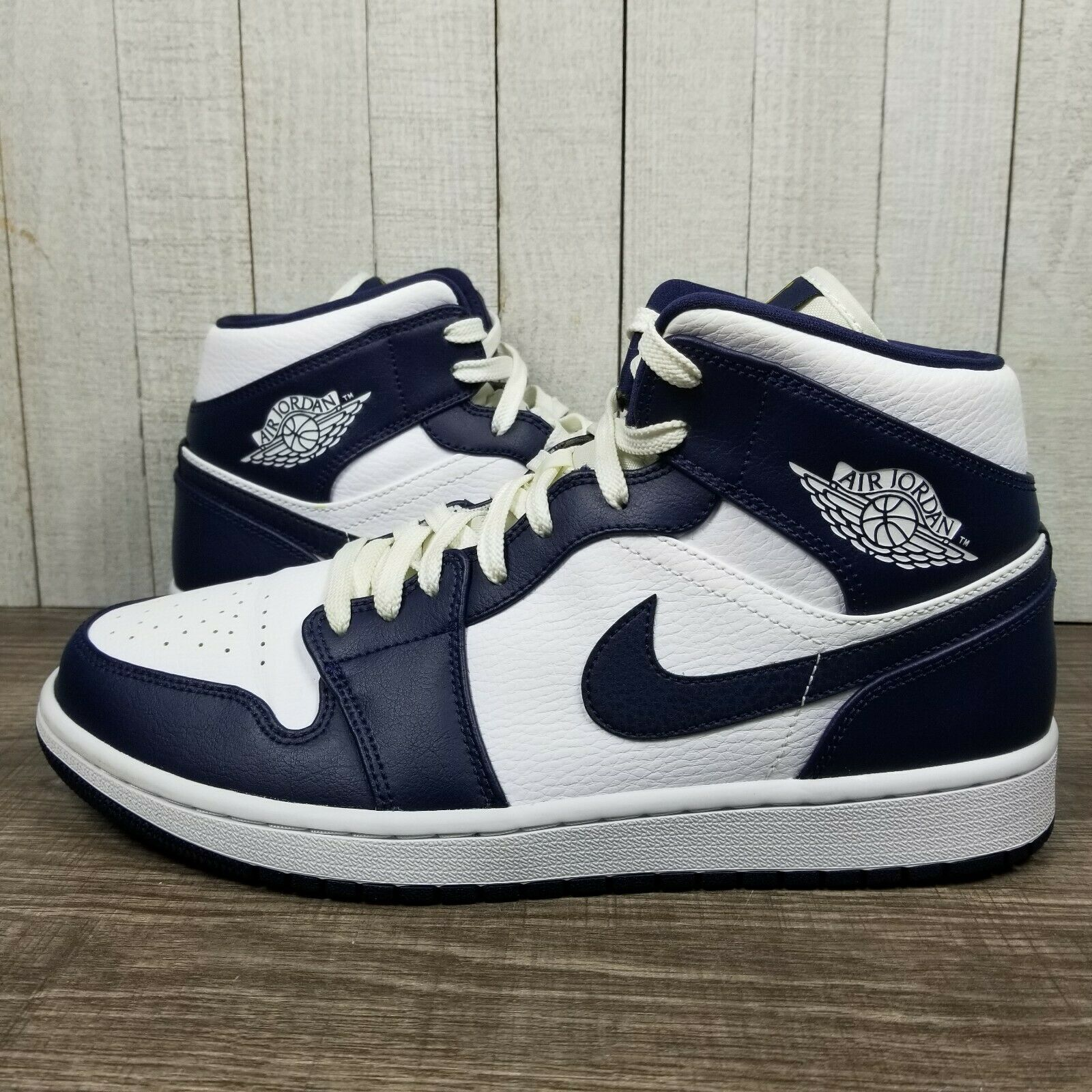 Jordan 1 Mid White Metallic Gold Obsidian GS