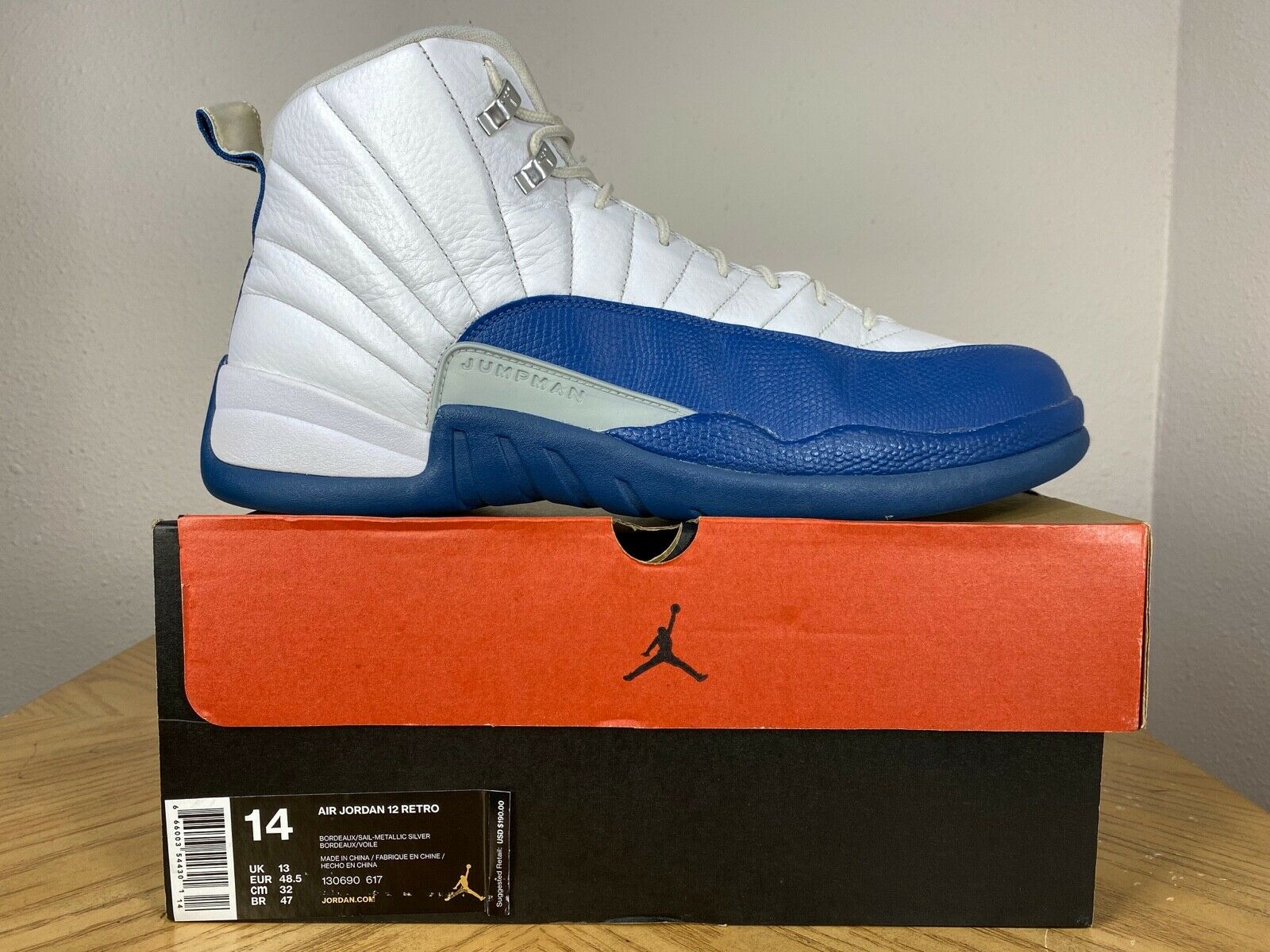 Jordan 12 Retro French Blue 2016