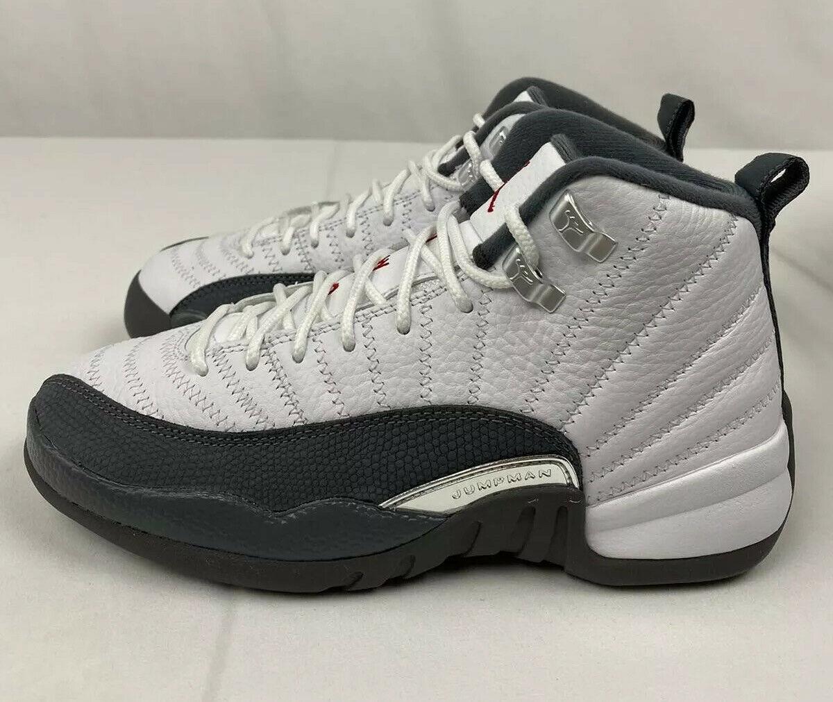 Jordan 12 Retro White Dark Grey GS