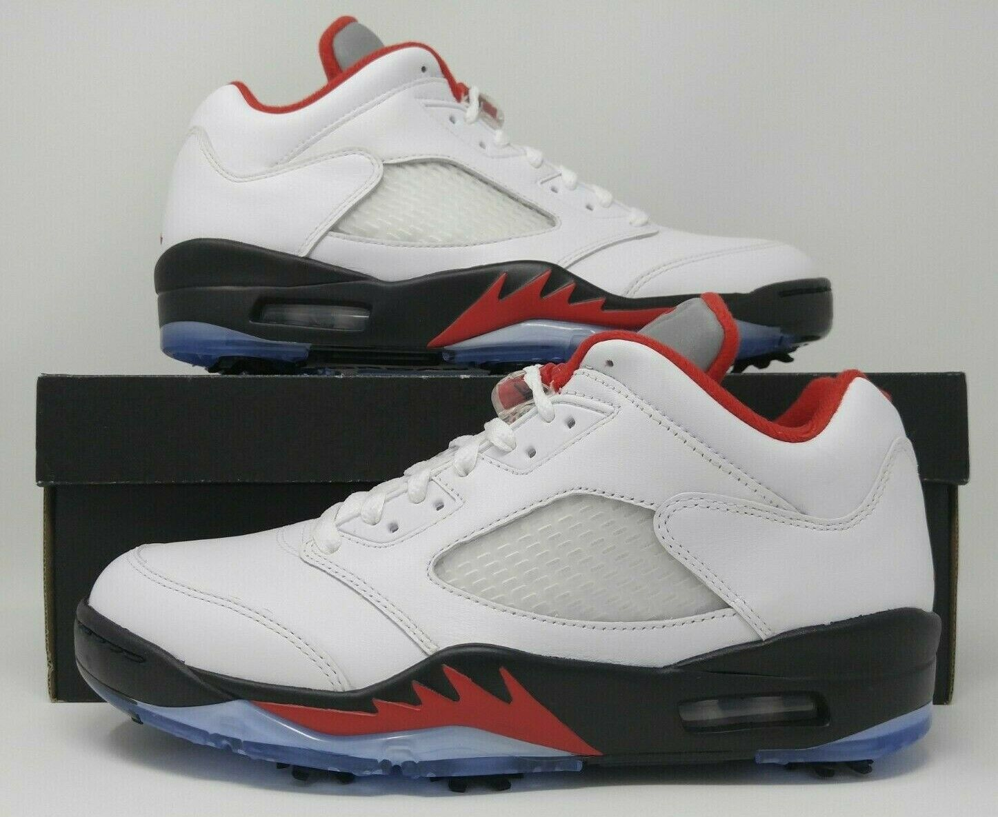 Jordan 5 Retro Low Golf Fire Red Silver Tongue