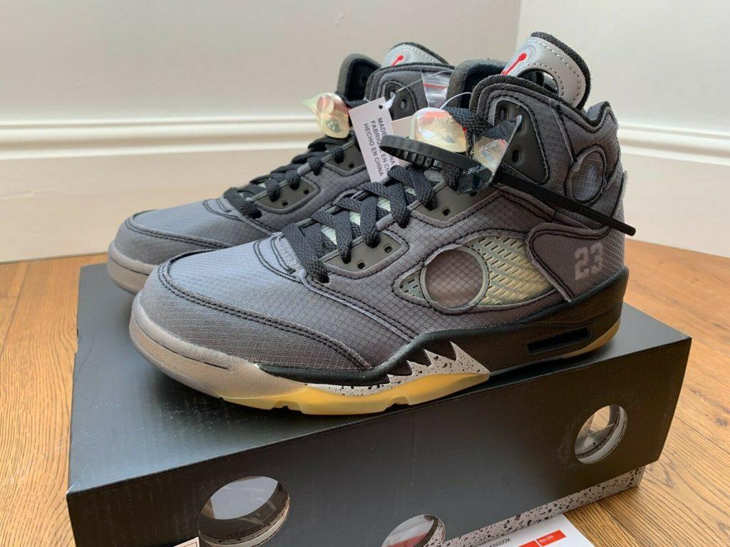 Jordan 5 Retro Off White Black