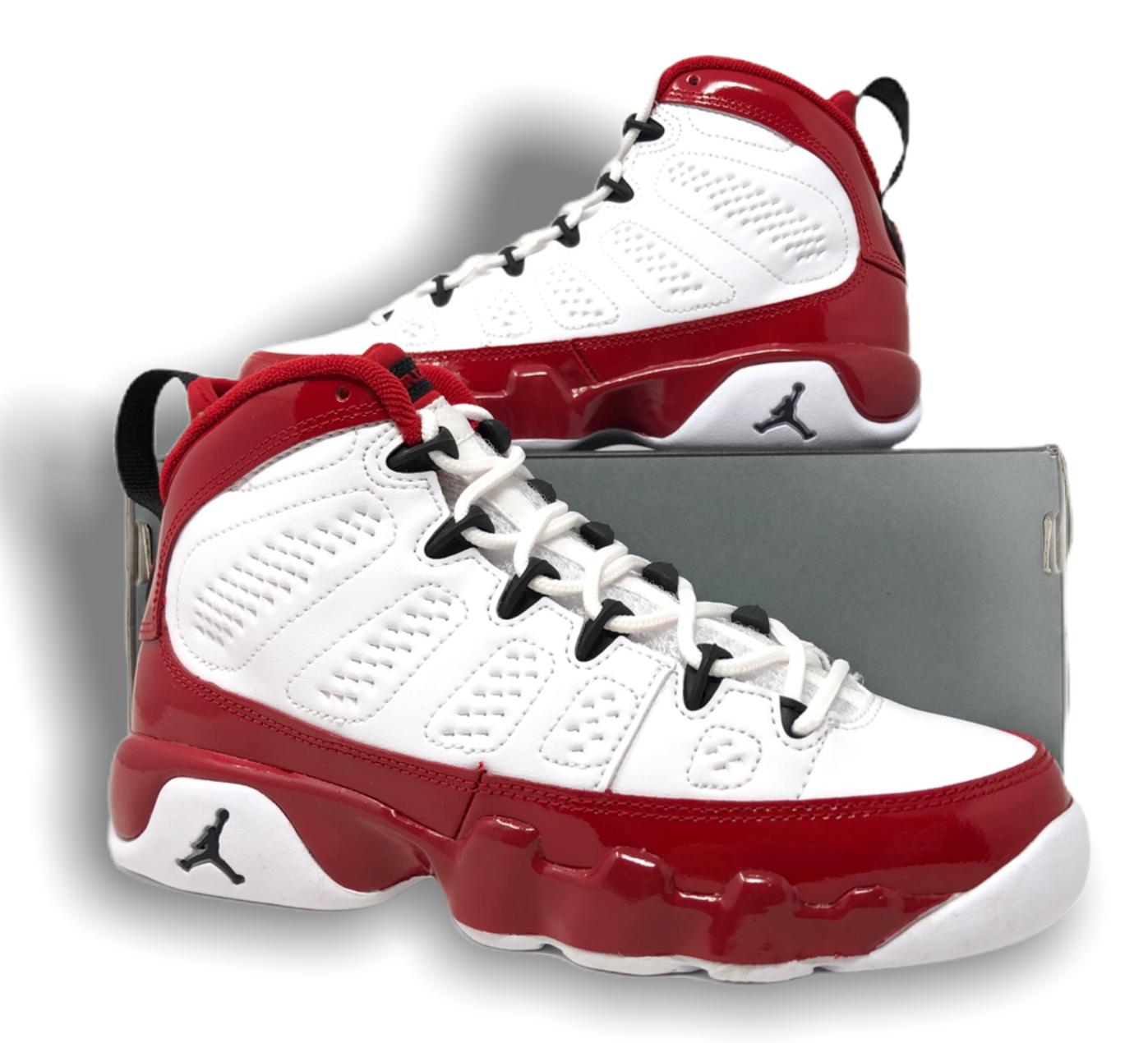 Jordan 9 Retro White Gym Red GS
