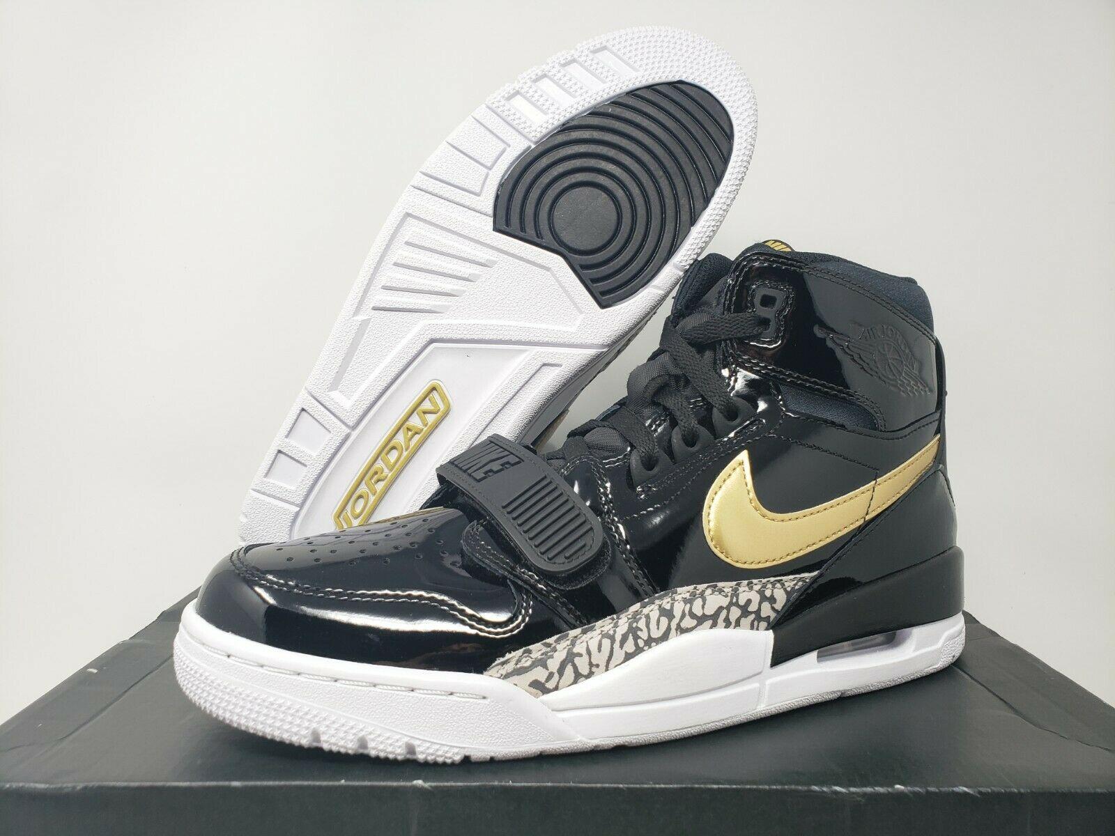 Jordan Legacy 312 Black Gold Patent