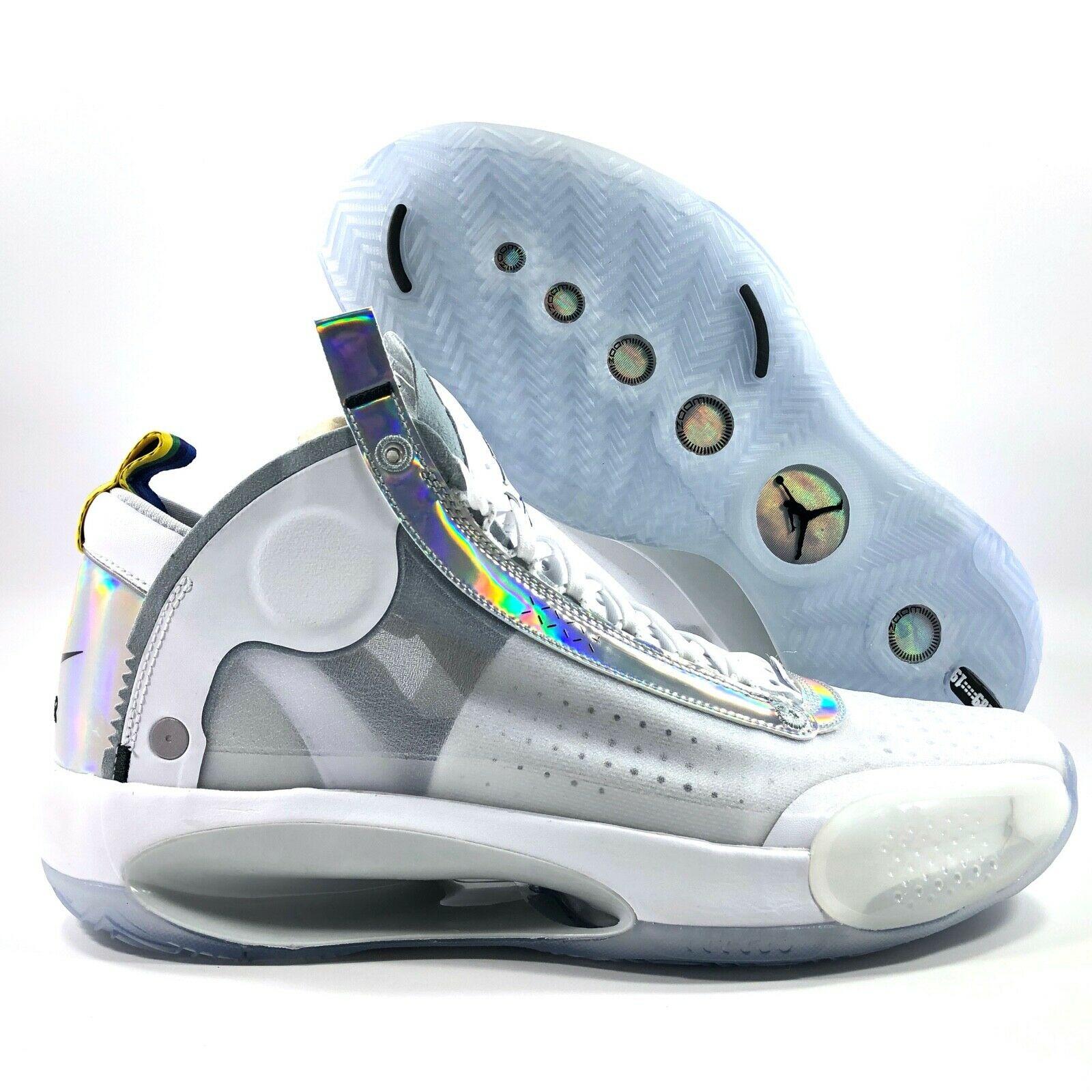 Jordan XXXIV White Metallic Silver