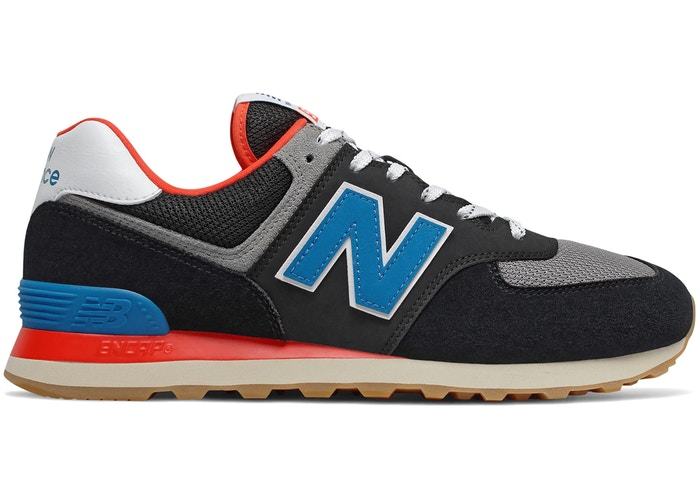 New Balance 574 Black Blue Red