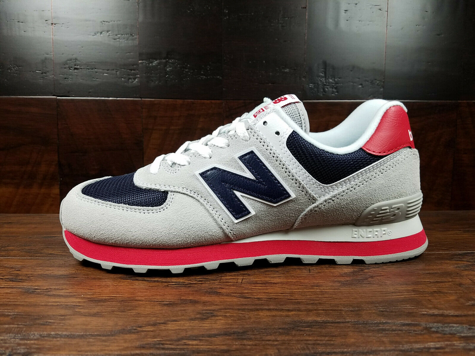 New Balance 574 Classic Grey Navy Red