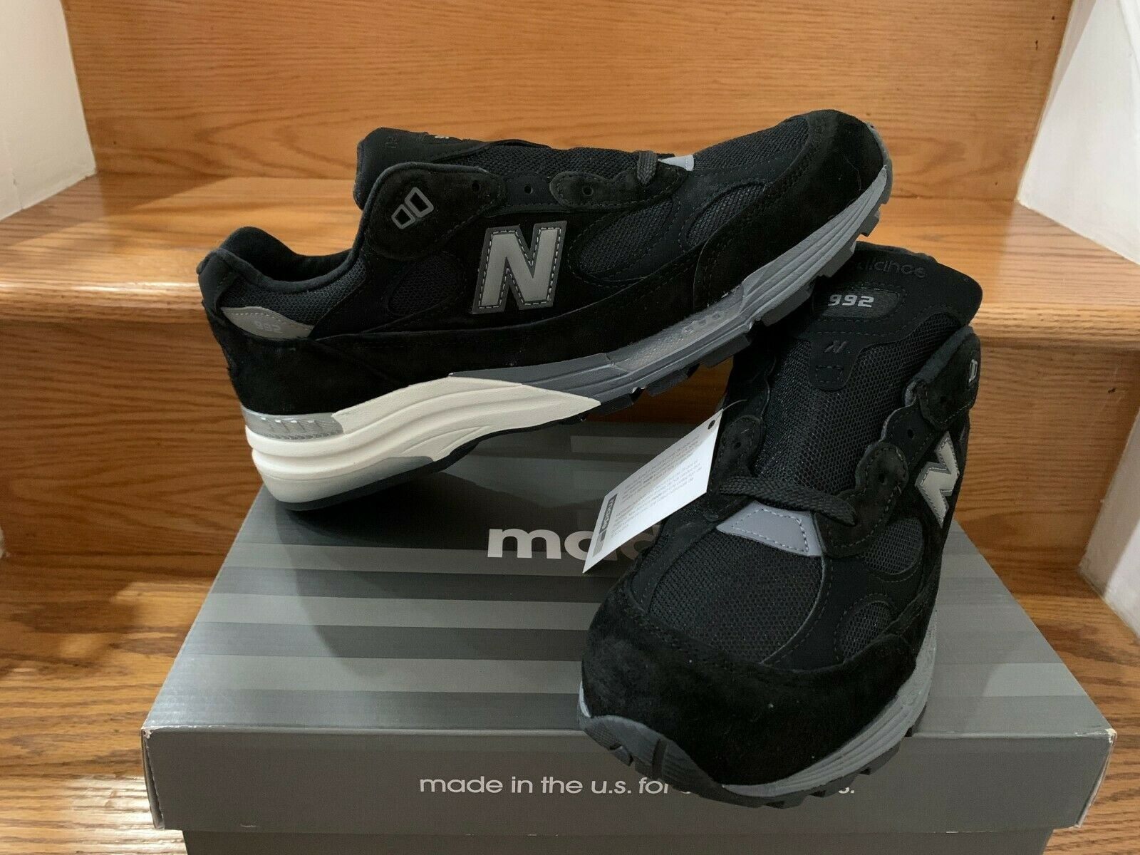 New Balance 992 Black Grey Made in USA