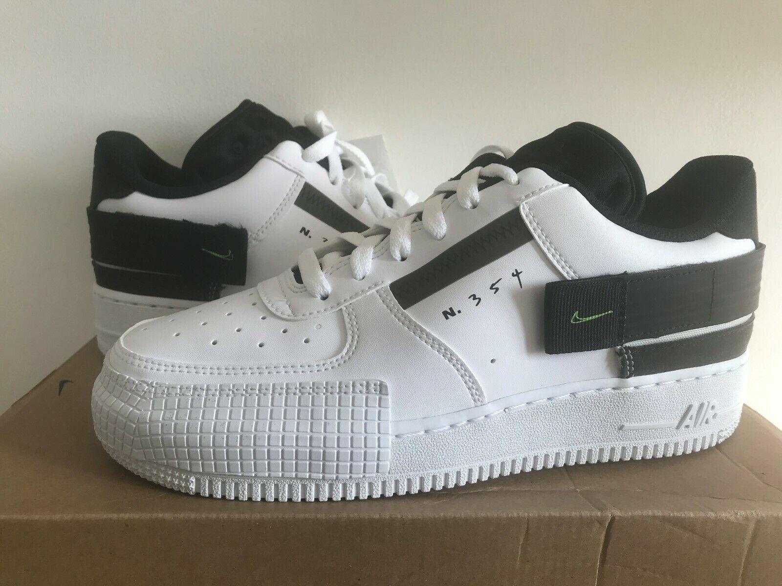 Nike Air Force 1 Type White Black Volt