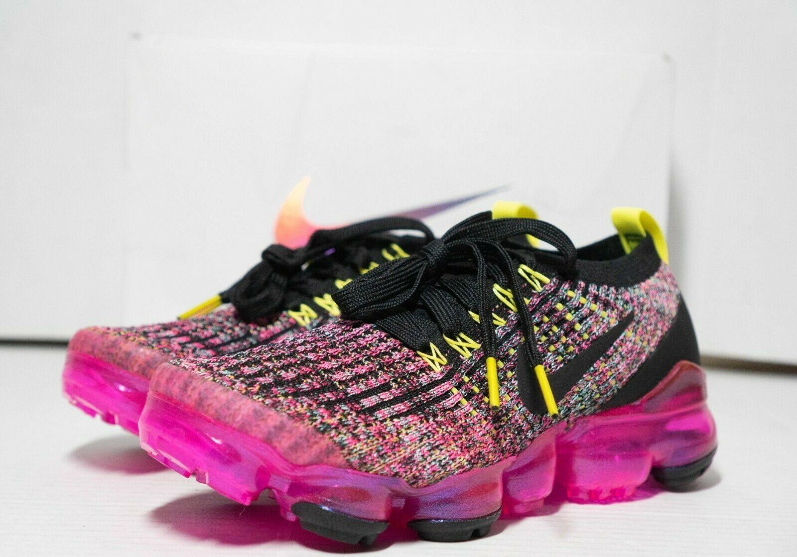 Nike Air VaporMax Flyknit 3 Black Pink Blast W