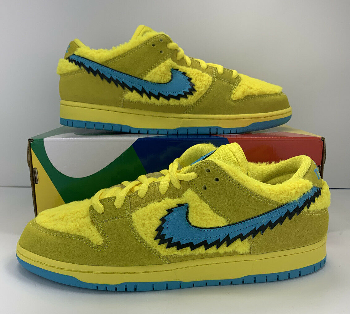 Nike SB Dunk Low Grateful Dead Bears Opti Yellow