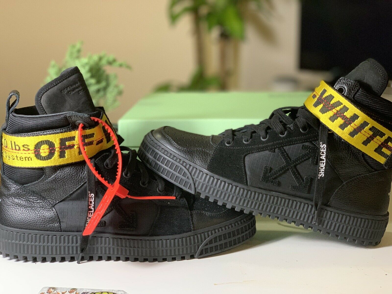 Off White Industrial Hi Top Black