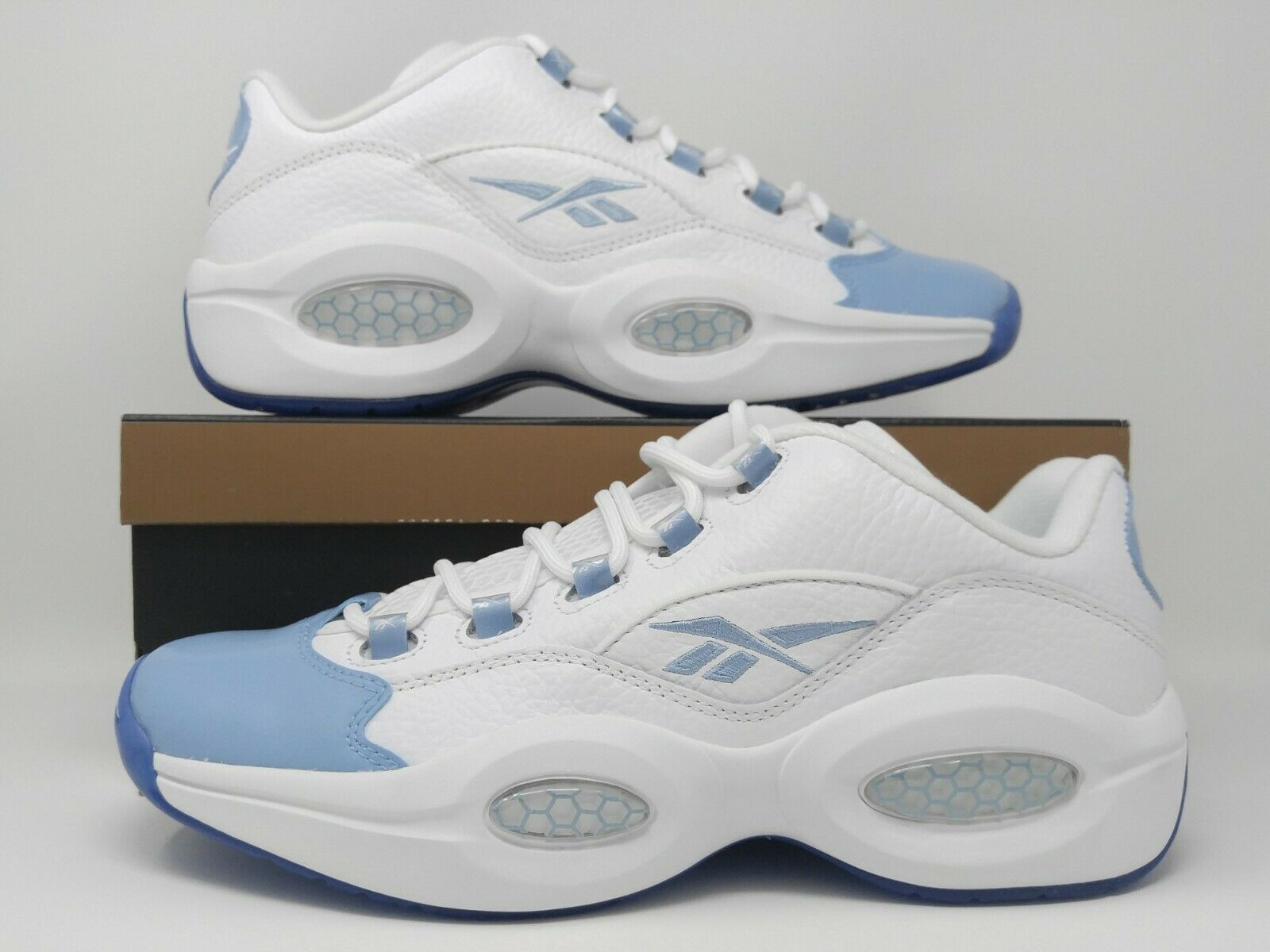 Reebok Question Low Patent Toe Carolina Blue