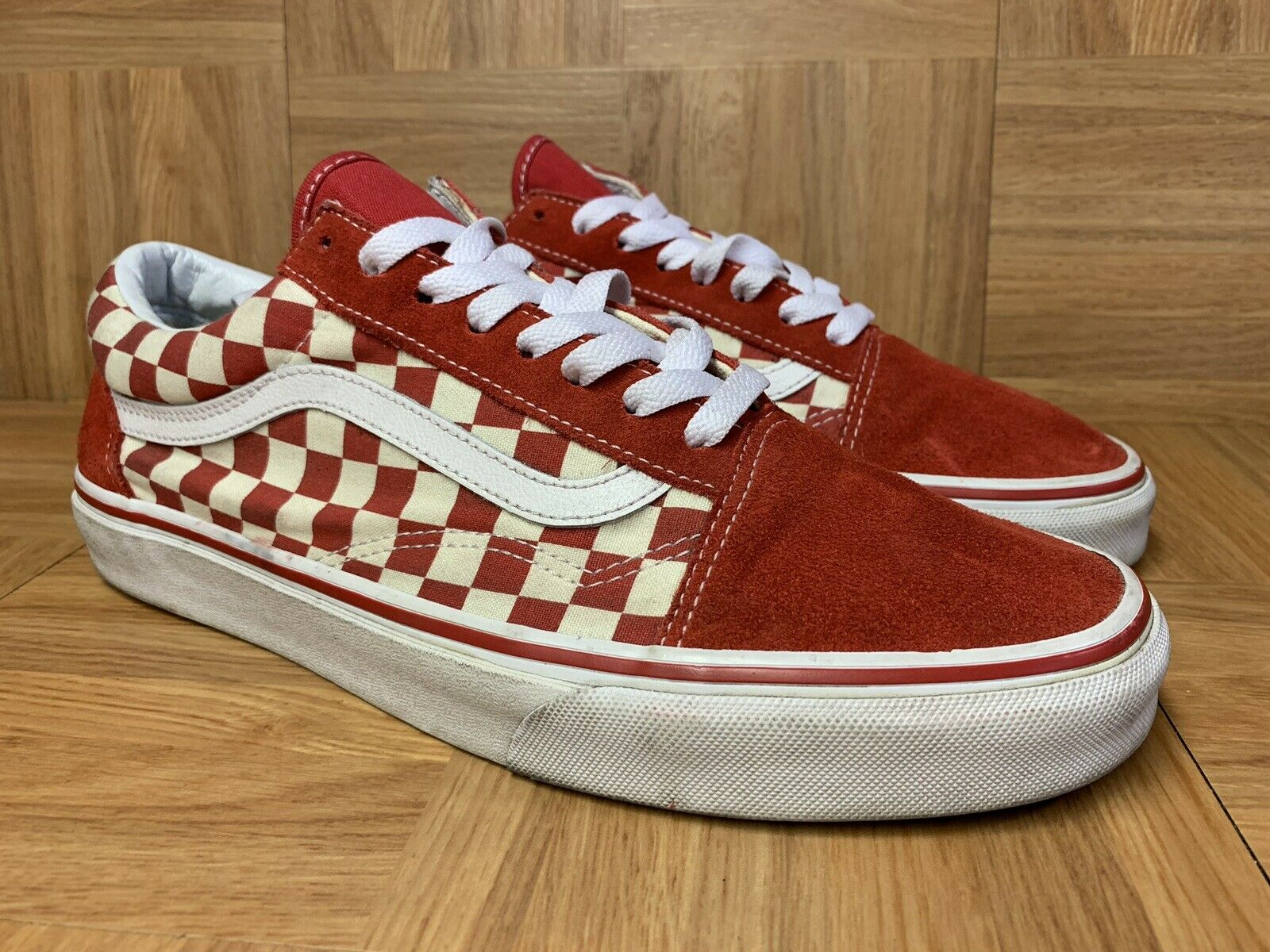 Vans Old Skool Checkerboard Racing Red