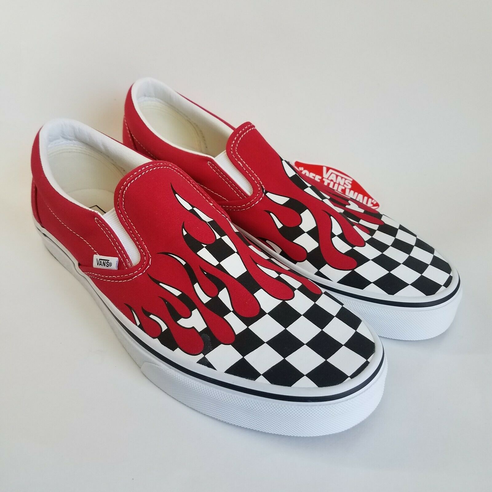 Vans Slip On Checker Flame Red