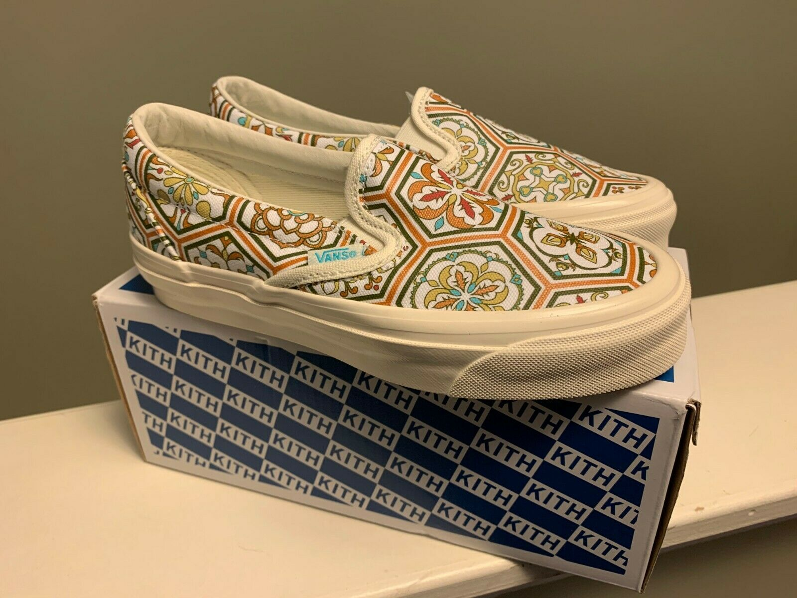 Vans Slip On Kith Moroccan Tile Orange