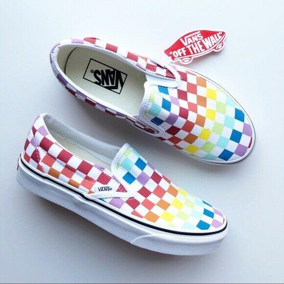 Vans Slip On Rainbow Checkerboard