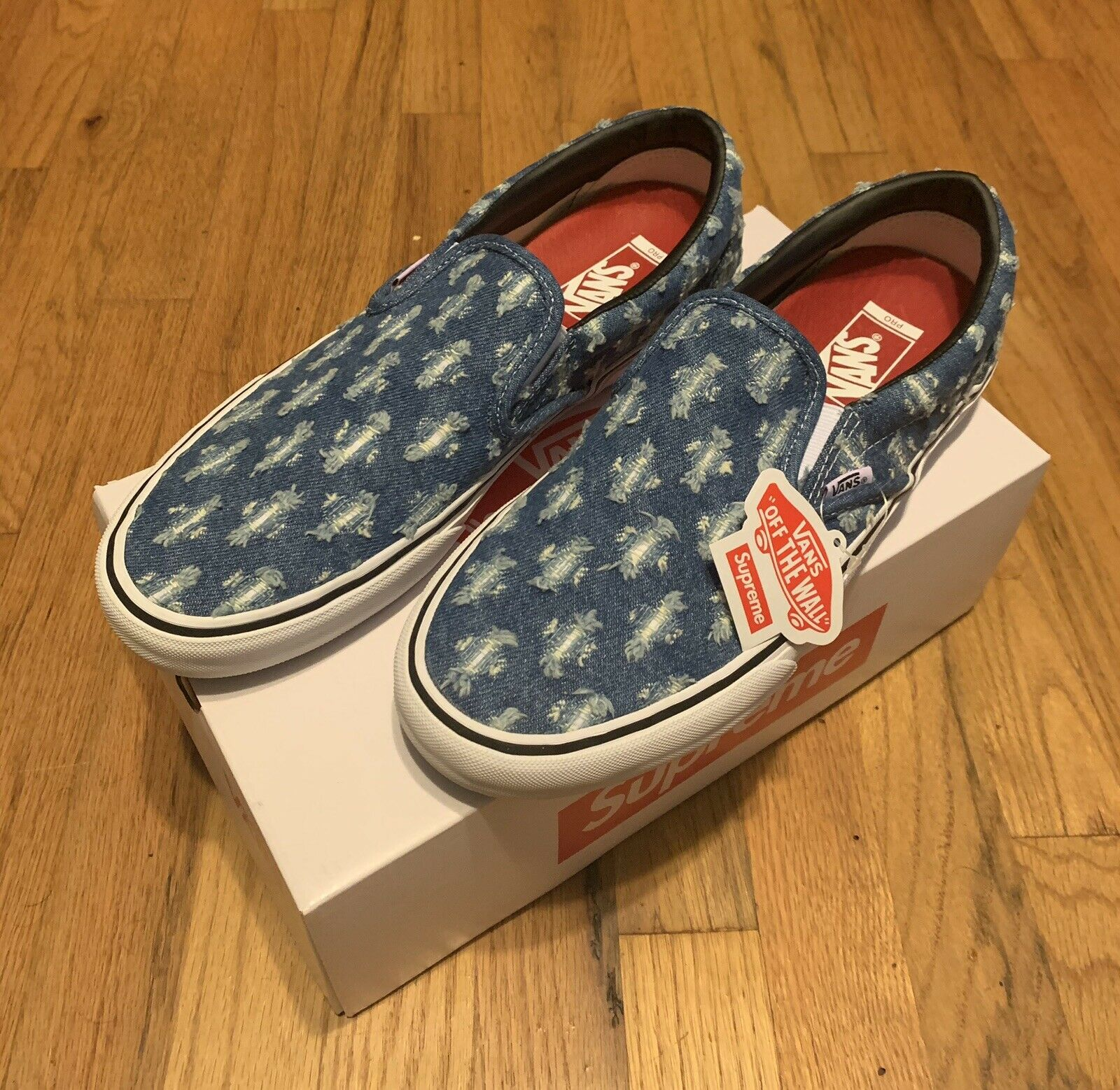 Vans Slip On Supreme Hole Punch Denim Blue