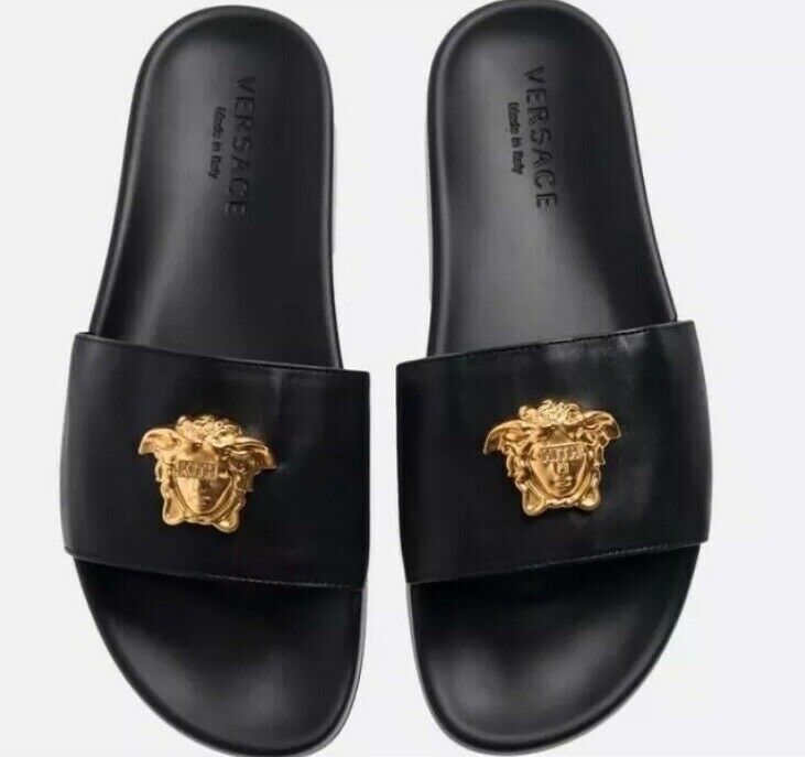 Versace Leather Slides x Kith