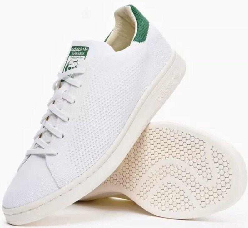 Adidas Stan Smith Boost Primeknit White Green