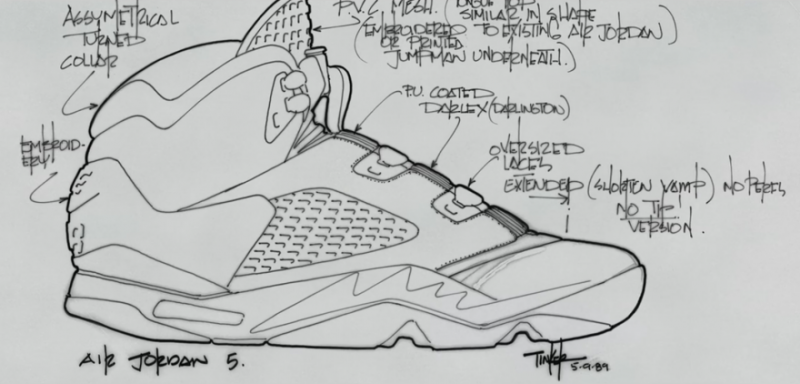 Tinker Hatfield Sketch