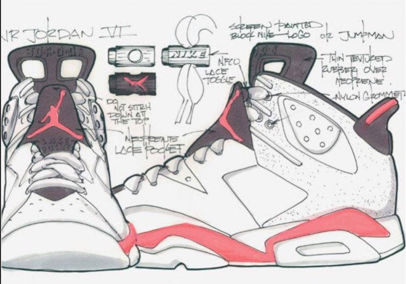 Tinker Hatfield Sketch Jordan 6